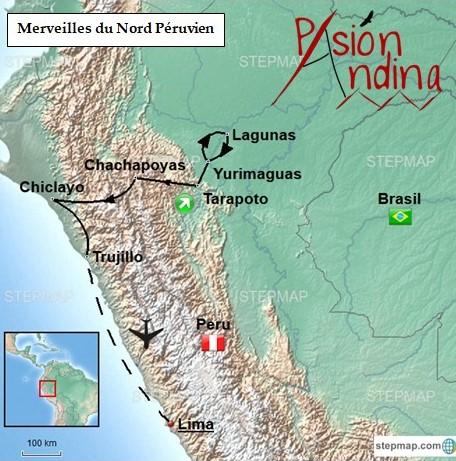 Carte Merveilles du Nord