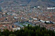 Cusco Plaza de Armas vu de Saksay Huaman