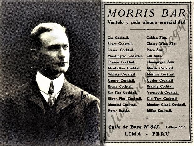Historia del Pisco Sour - Victor Morris - Morris Bar - Pasion Andina